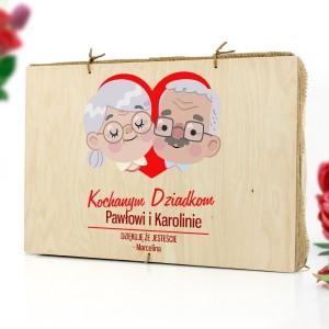 kolorowy nadruk personalizacji na łubie na dzień babci i dziadka