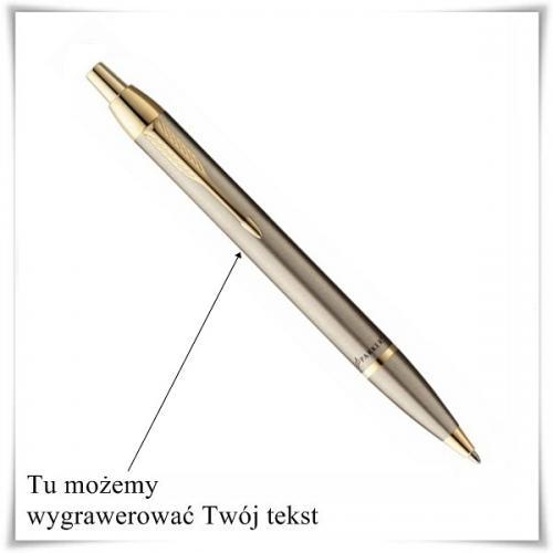 Długopis Parker IM Brushed Metal GT z możliwością graweru