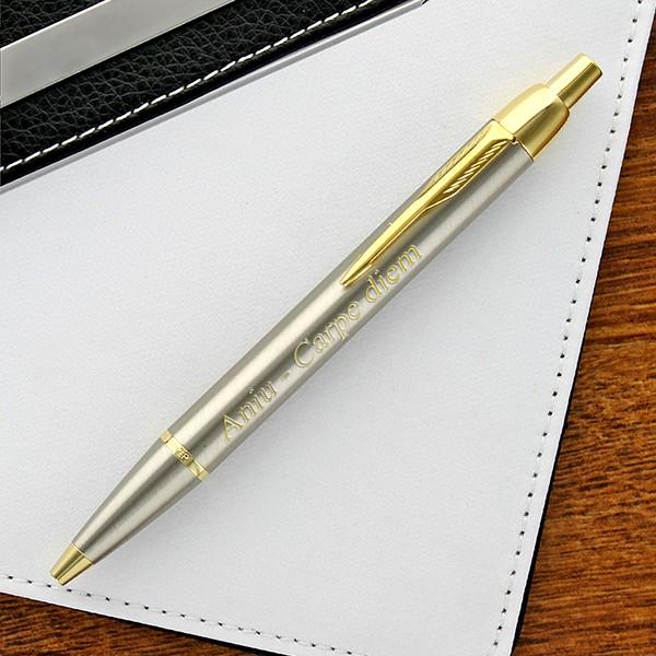 długopis Parker IM brushed metal CT