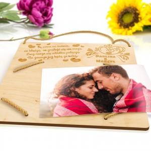 Ramka na zdjęcie z personalizowanym grawerem na prezent dla pary