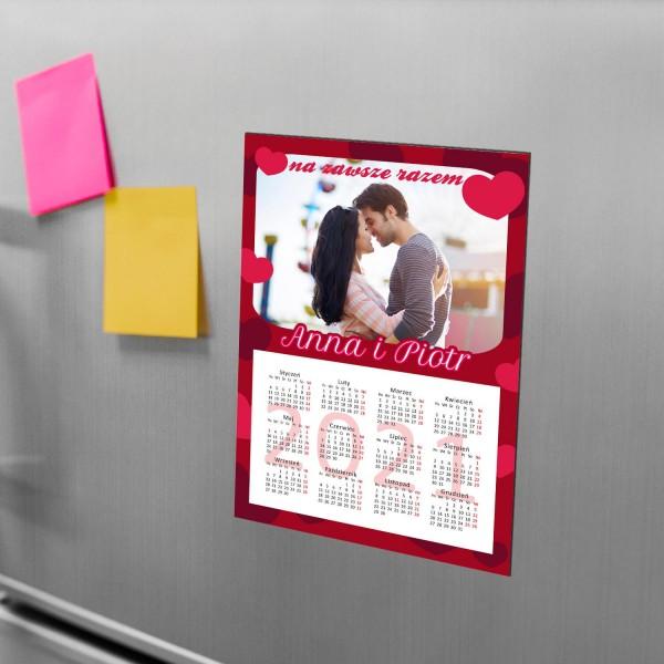 kalendarz magnes na lodówkę ze zdjęciem