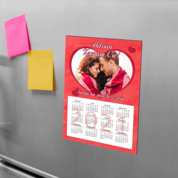 kalendarz magnes ze zdjęciem na walentynki