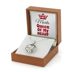 Sekretnik srebrny w pudełku z nadrukiem personalizowanej dedykacji