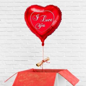 Personalizowany prezent na walentynki - balon z listem