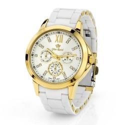 Spersonalizowany biały zegarek damski Gino Rossi