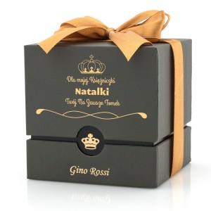 pudełko na zegarek z nadrukiem dedykacji na prezent dla kobiety