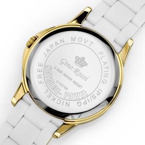 Grawer dedykacji na odwrocie zegarka