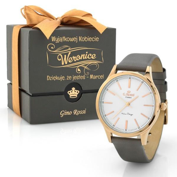 Zegarek z grawerem i dedykacją Gino Rossi na prezent dla kobiety