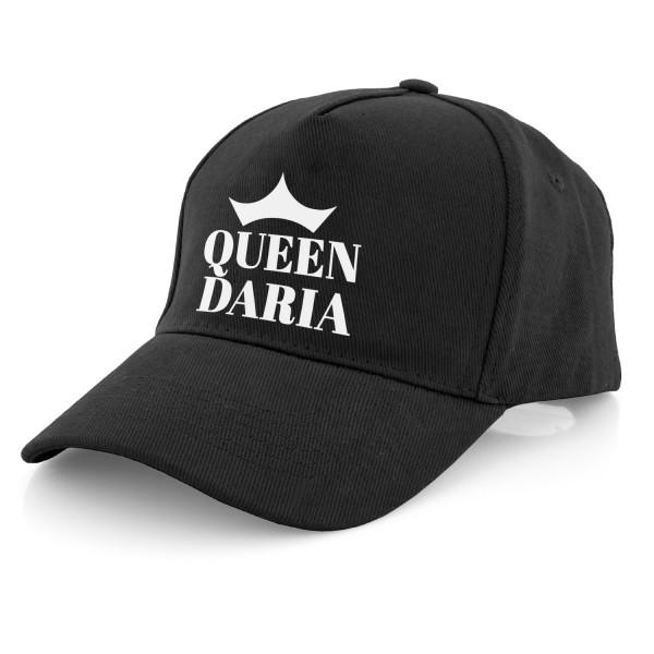 czapka z daszkiem damska z naddrukiem imienia i napisu queen