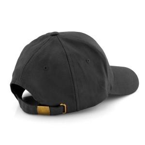 czarna czapka z daszkiem z regulacją
