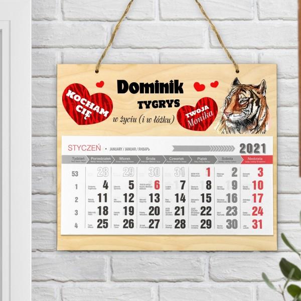 kalendarz ścienny 2021 z dedykacją dla ukochanego