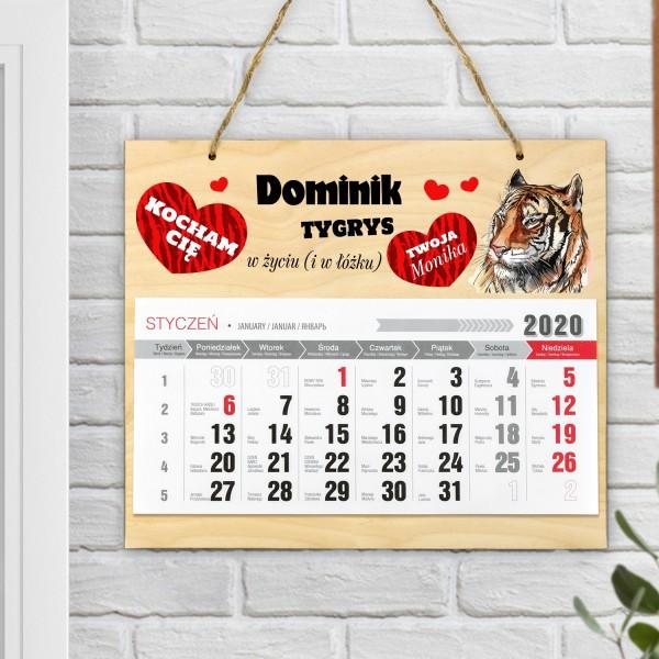 Kalendarz z nadrukiem personalizacji na walentynki