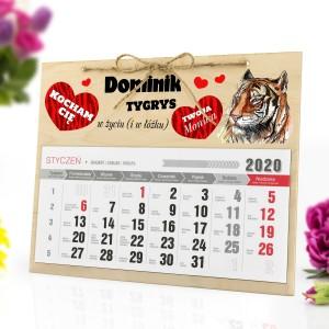 personalizowany kalendarz na prezent dla faceta na walentynki
