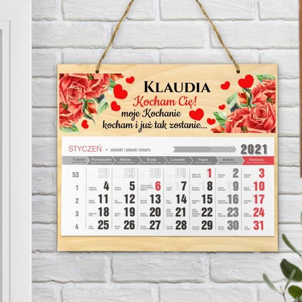 kalendarz ścienny na 2021 rok z personalizowanym nadrukiem