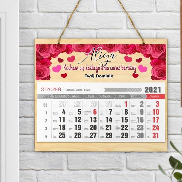 kalendarz ścienny 2021 z personalizacją