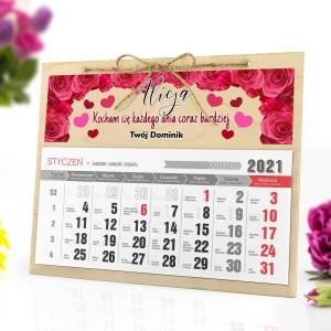 kalendarz ścienny na 2021 rok z personalizacją