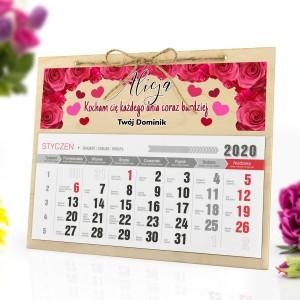 Kalendarium personalizowane z imionami na prezent na walentynki i inne okazje
