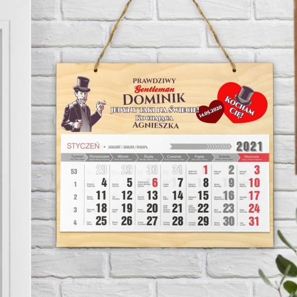 kalendarz 2021 z nadrukiem dla niego