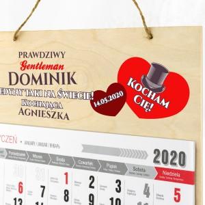 Personalizowany kalendarz jednodzielny na sklejce drewnianej