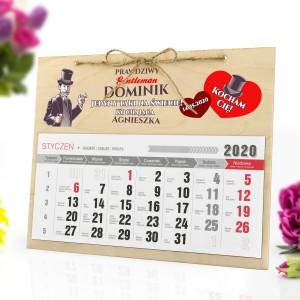 Kalendarz z personalizacją i dedykacją na prezent dla mężczyzny