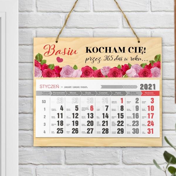 kalendarz ścienny personalizowany dla niej