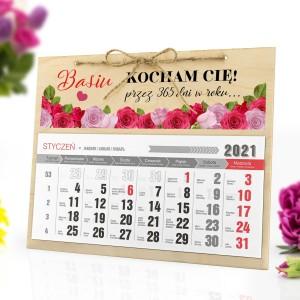 kalendarz 2021 z nadrukiem na ścianę