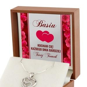 Personalizowana dedykacja w pudełeczku na biżuterię na prezent dla kobiety