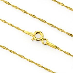 pozłacany naszyjnik łańcuszek ze srebra 925