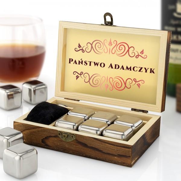 kostki stalowe do whisky na prezent dla małżeństwa