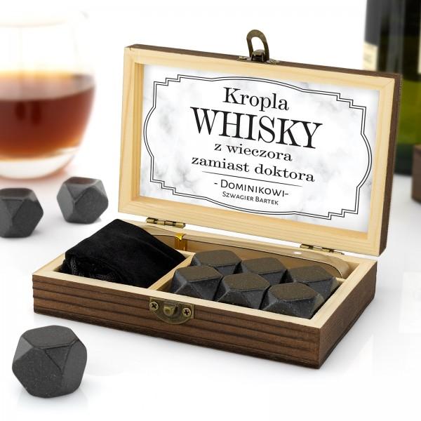 kamienie granitowe whisky w szkatułce