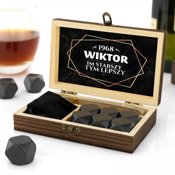 kamienie granitowe chłodzące do whisky na urodziny