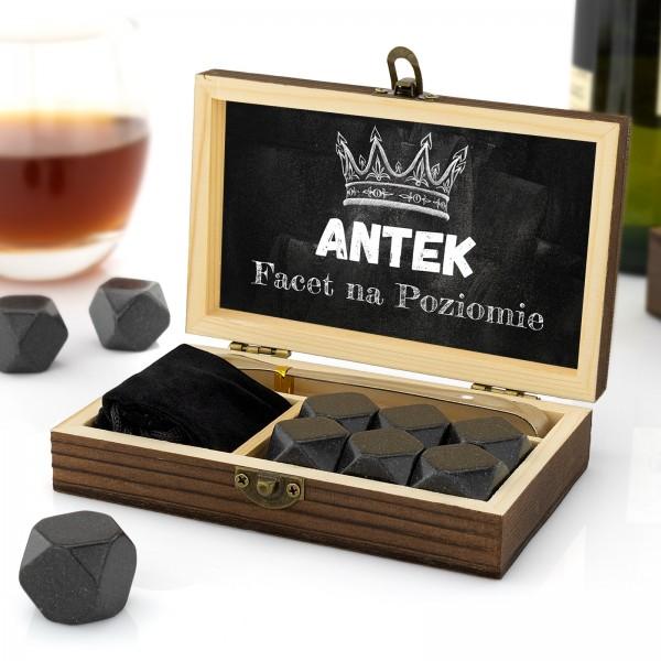 kamienie chłodzące do whisky z nadrukiem imienia
