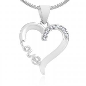 Zawieszka srebrna serce love