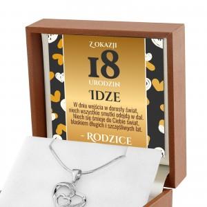 naszyjnik na 18 urodziny serce srebrne