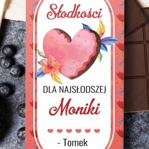 Personalizowana czekolada na dzień kobiet z imieniem