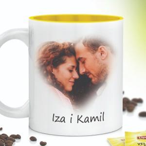 Kubek ceramiczny z imionami i zdjęciem zakochanych