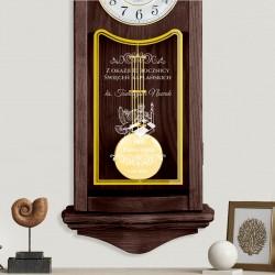 zegar z grawerem na rocznicę święceń