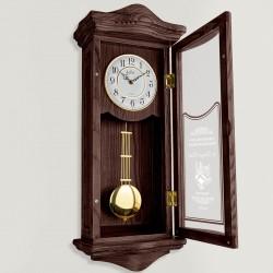 zegar drewniany ścienny z grawerem dedykacji