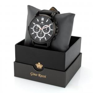skórzany męski zegarek w pudełku