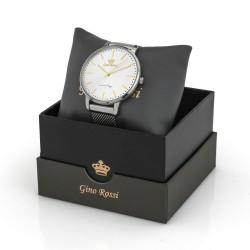 srebrny zegarek damski w pudełku z dedykacją