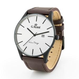Zegarek męski Gino Rossi na pasku skórzanym brązowym