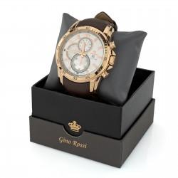 Elegancki zegarek męski na pasku skórzanym, masywny