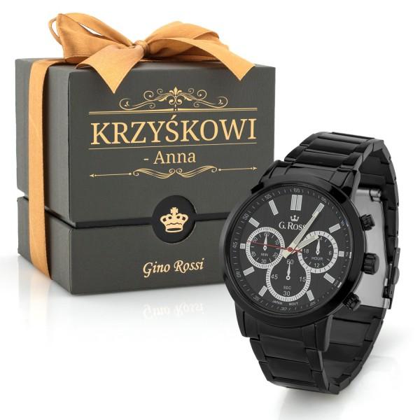 Zegarek Gino Rossi na stalowej bransolecie  10762B-1A3
