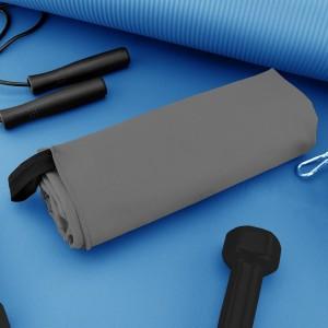Szary ręcznik treningowy z mikrofibry