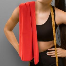 Ręcznik czerwony damski mikrofibra