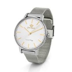 srebrny zegarek z grawerem