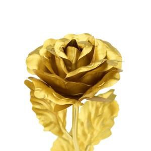 złota róża pod kloszem na prezent  dla ukochanej
