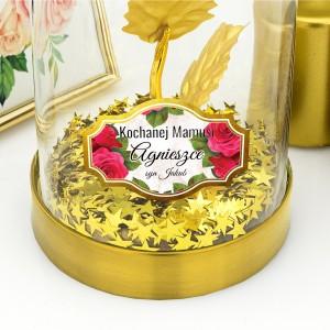 złota róża handmade