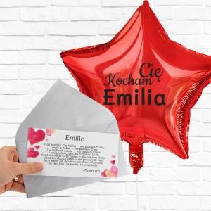 Bilecik z życzeniami do balonu z helem
