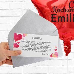 Balon z helem i bilecik z życzeniami